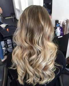 Ombre Shaded Root Area with Pre Lightened Ends